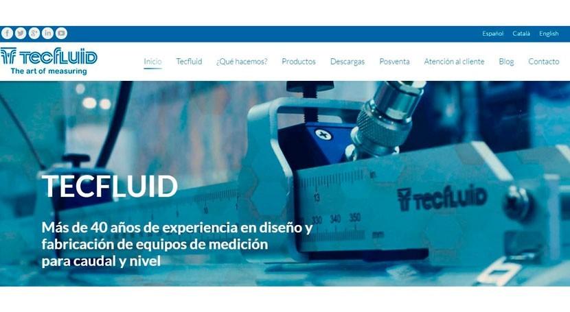 Tecfluid presenta nueva web blog especializado medición caudal y nivel