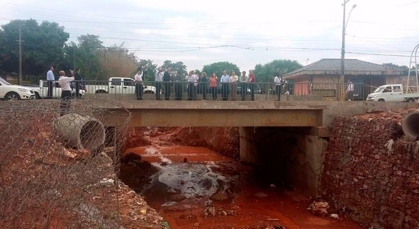 Gobierno paraguayo ejecuta obras mejoramiento arroyos Sosa y Fortín