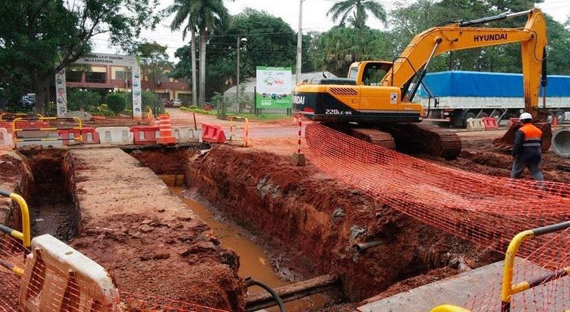 Prosiguen trabajos zanja técnica y desagüe pluvial Fernando Mora