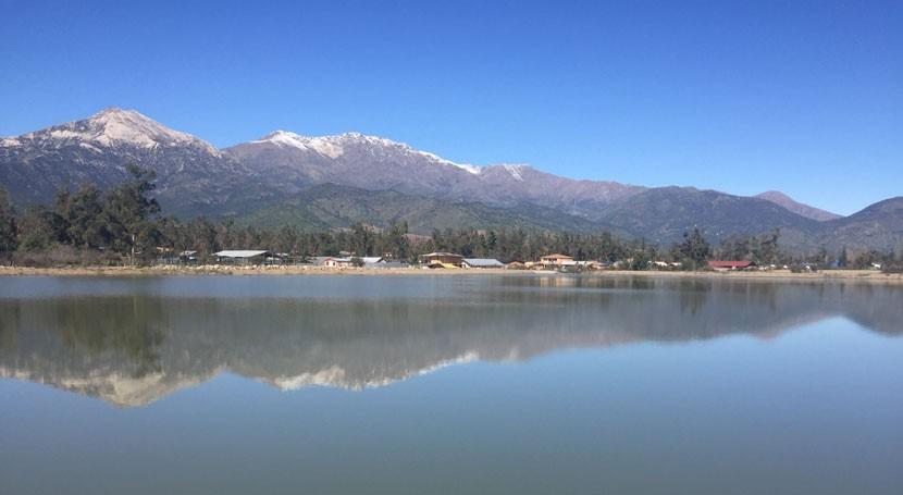 Chile constata avances obras rehabilitación embalse Principal Pirque