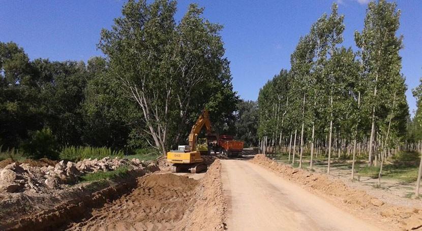 CHE continúa Boquiñeni reparación mota Ebro