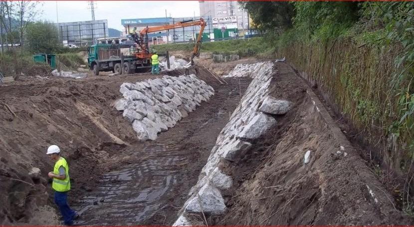 Obras en el Río Canedo (CHMS)