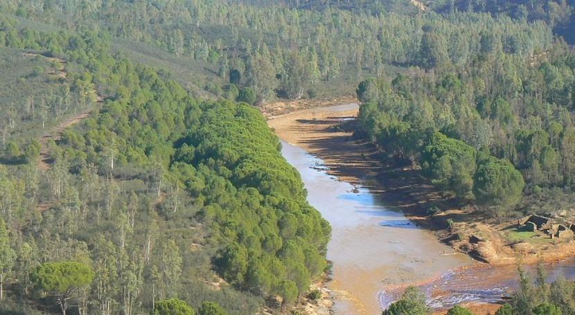 el Plan Hidrológico del Tinto-Odiel-Piedras una reserva de 15hm3 para su trasvase a la cuenca del Guadalquivir