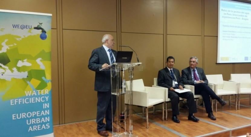 Aragón comparte experiencia gestión agua Perú