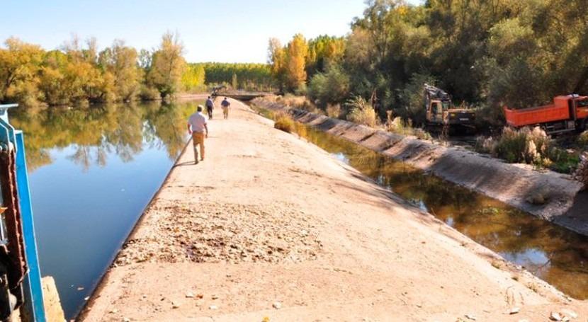 demolición barreras río Órbigo, ejemplo adaptación al cambio climático
