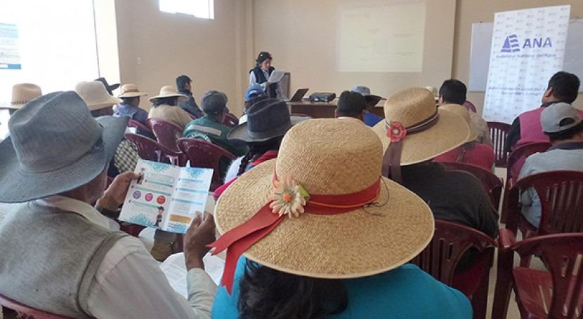 ANA intensifica plan sensibilización formalizar o regularizar derechos uso agua