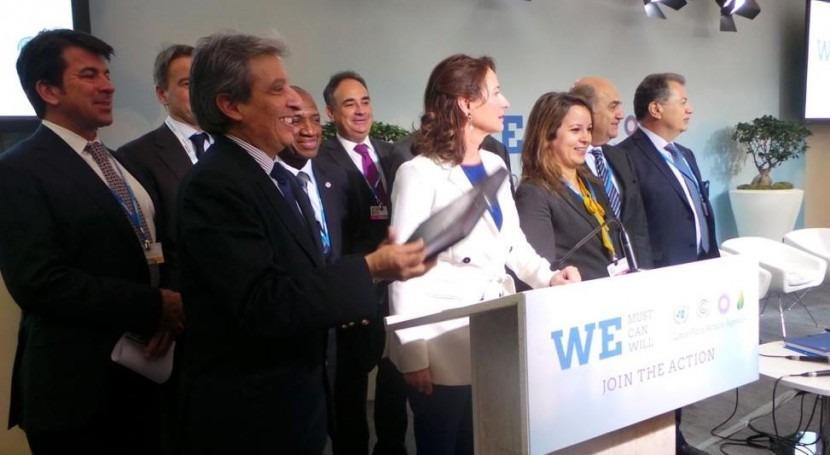 España se suma Cumbre Clima París al primer Pacto Agua y Cambio Climático
