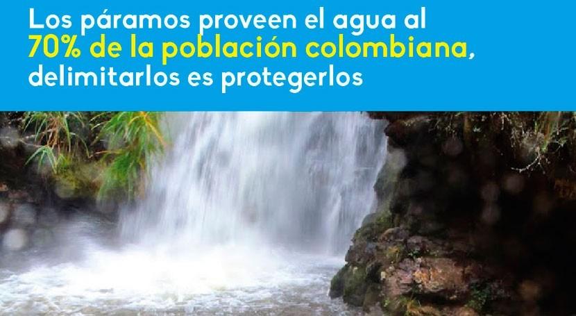 Colombia avanza delimitación páramos, que proveen agua al 70% población país