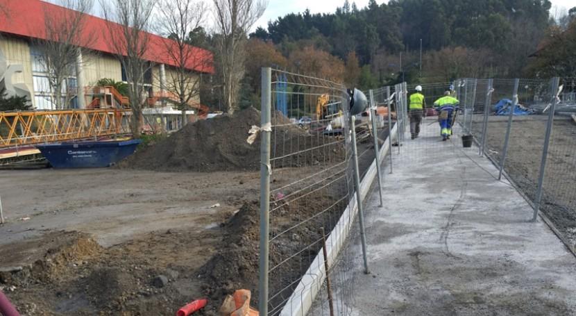 URA abre hoy paso provisional peatones nuevo puente Fadura Getxo