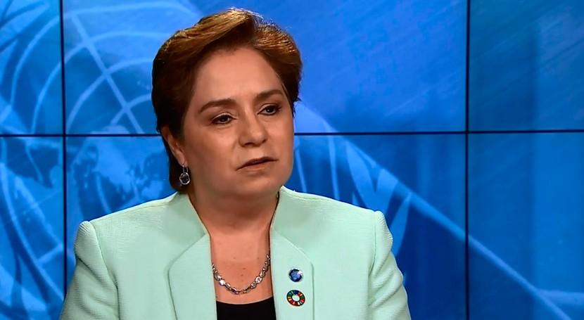 """Patricia Espinosa: """" cambio climático tiene que ver bienestar gente"""""""