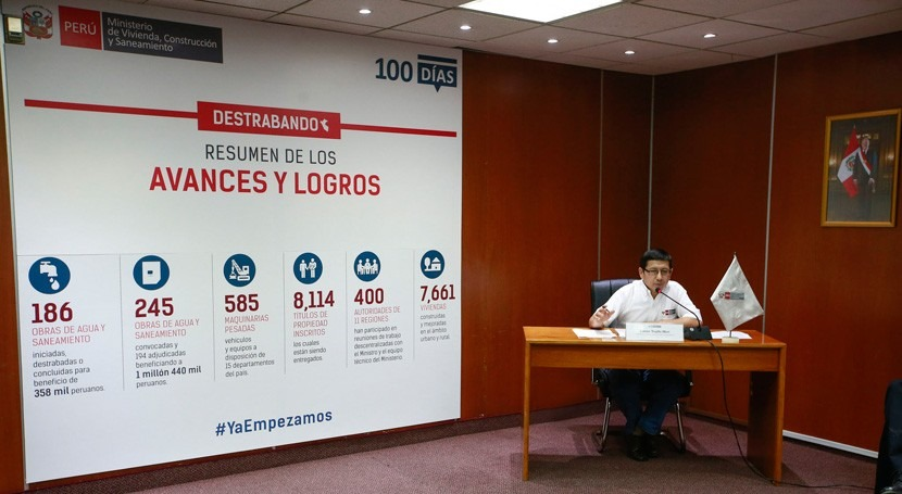 Perú mejora acceso agua y saneamiento millón y medio habitantes