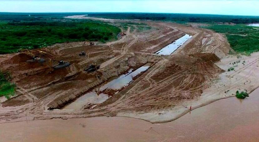 retirada muro Pilcomayo permite ingreso aguas