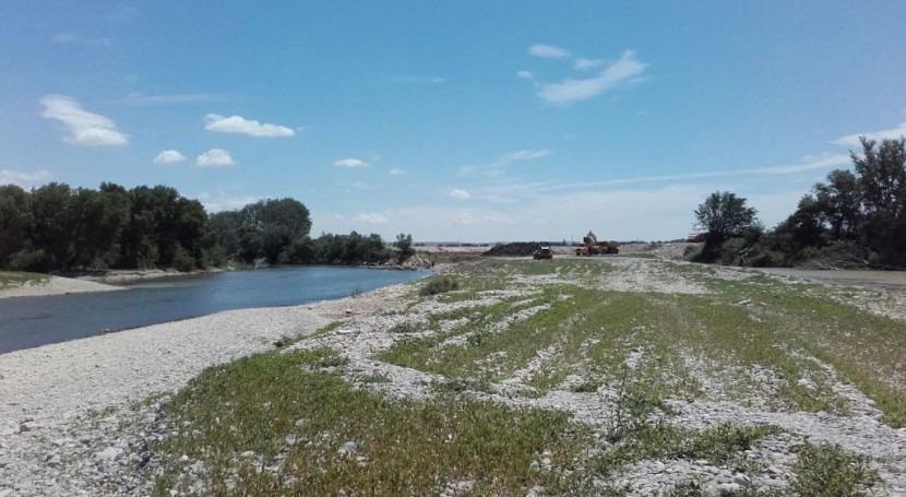 CHE inicia actuaciones reparación avenidas 2016 Pina Ebro (Zaragoza)
