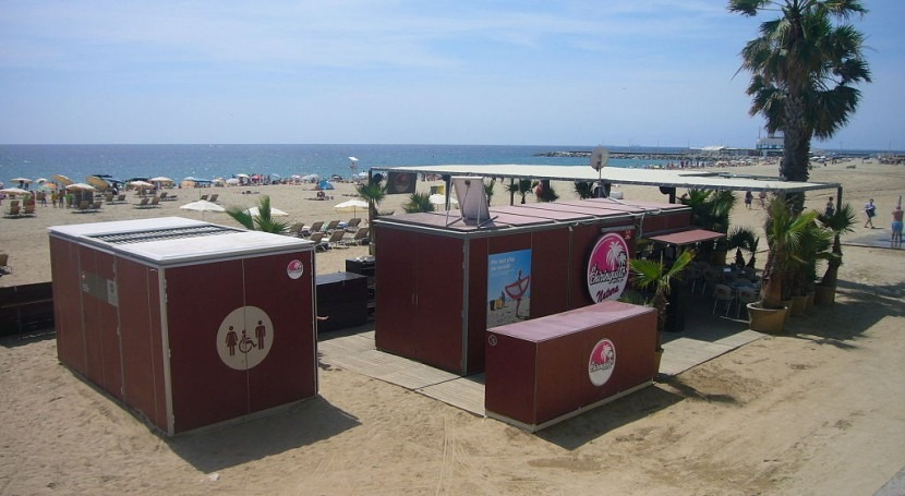 Playa de la Nova Mar Bella en Barcelona
