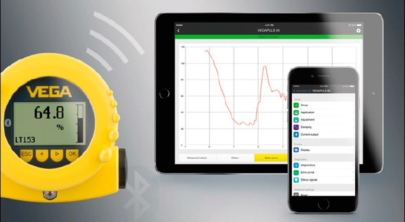 VEGA integra Bluetooth módulo universal indicación y ajuste PLICSCOM