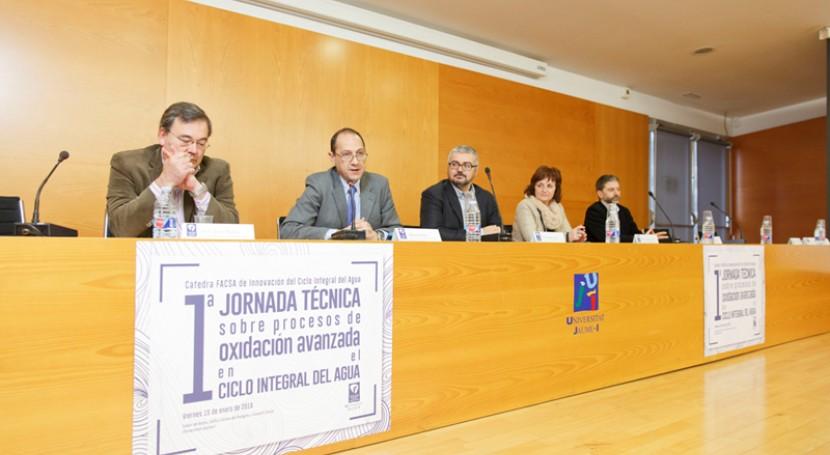 Cátedra FACSA-UJI analiza principales retos depuración aguas mediante POAs