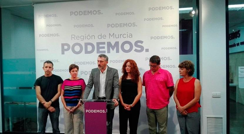 Ley Mar Menor y Pacto Social Agua, objetivos Podemos Murcia