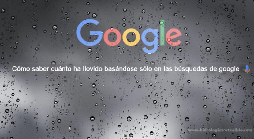 Cómo saber cuánto ha llovido basándose sólo búsquedas Google