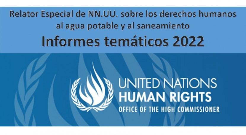 Aporta próximos informes Relator Especial NN.UU.