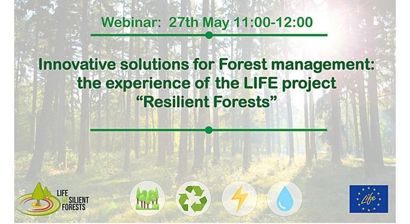 proyecto RESILIENT FORESTS organiza webinar nuevo software gestión forestal
