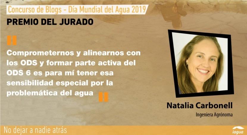Natalia Carbonell, Premio Jurado Concurso Blogs Día Mundial Agua