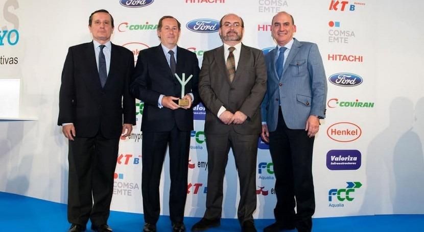 Los premiados de FCC Aqualia.