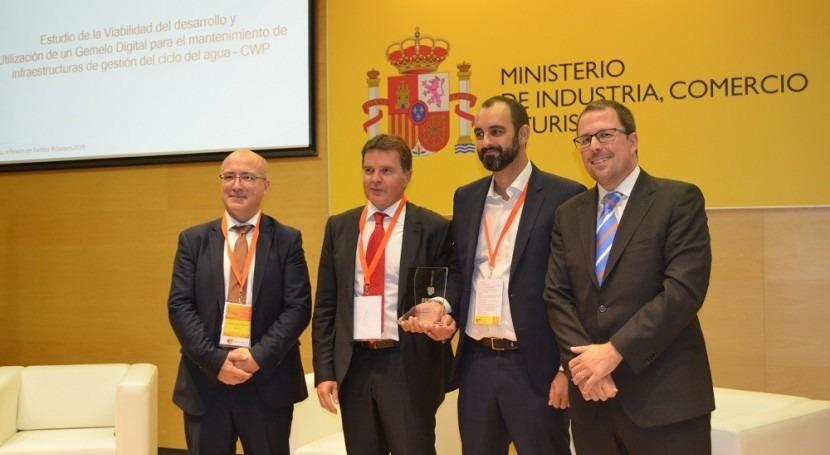 Premio al Mejor Proyecto Colaboración Intercluster desarrollo gemelo digital