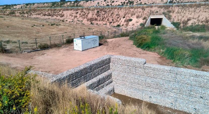 Finaliza construcción presa que recuperará caudal torrente Águila Cataluña