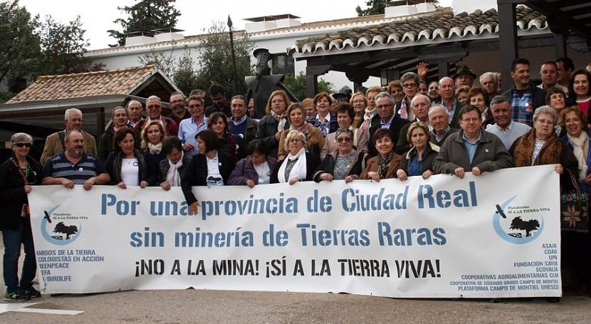 carencia recursos hídricos impide minería tierras raras provincia Ciudad Real