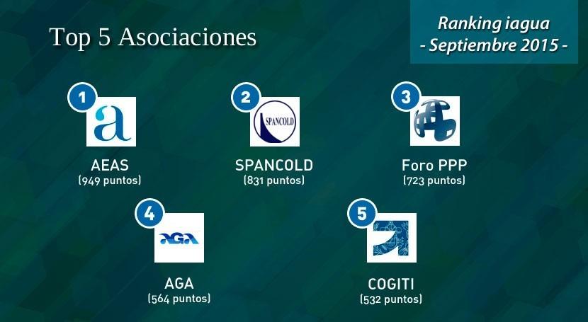AEAS, nuevo líder Ranking iAgua Asociaciones