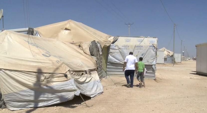 Campo de refugiados sirios en Jordania (CIRC).