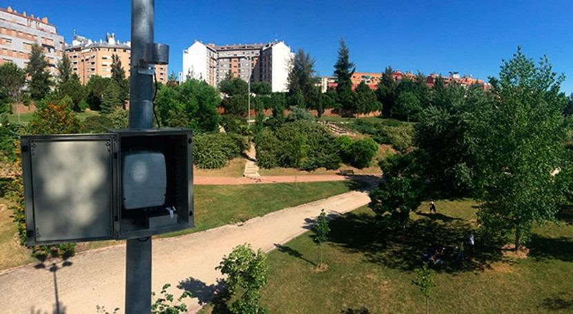 Riego inteligente jardines públicos Cáceres SKYgreen®
