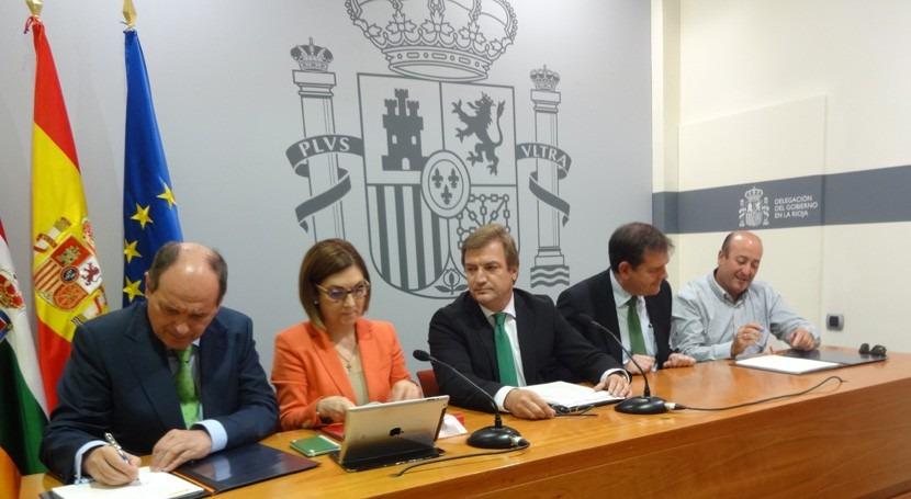 Acuerdo modernización regadíos Mabab Rioja
