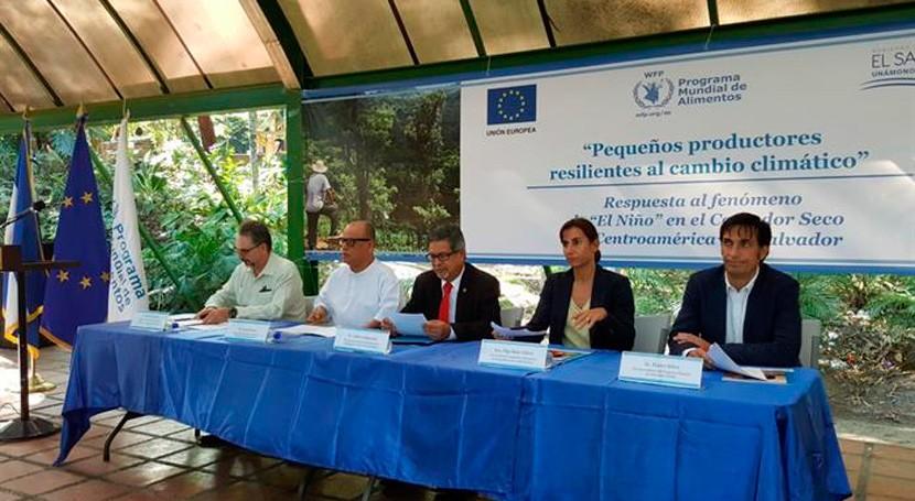 marcha respuestas frente Niño Corredor Seco Centroamérica– Salvador