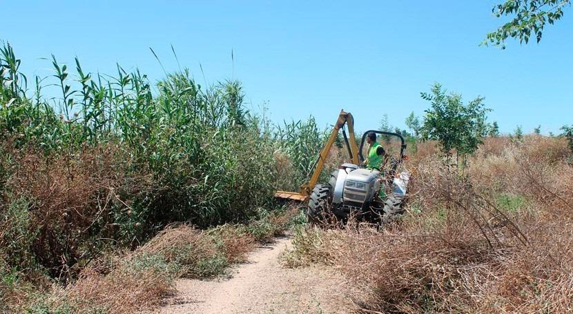 Comienzan trabajos mantenimiento y conservación Riopudio Sevilla