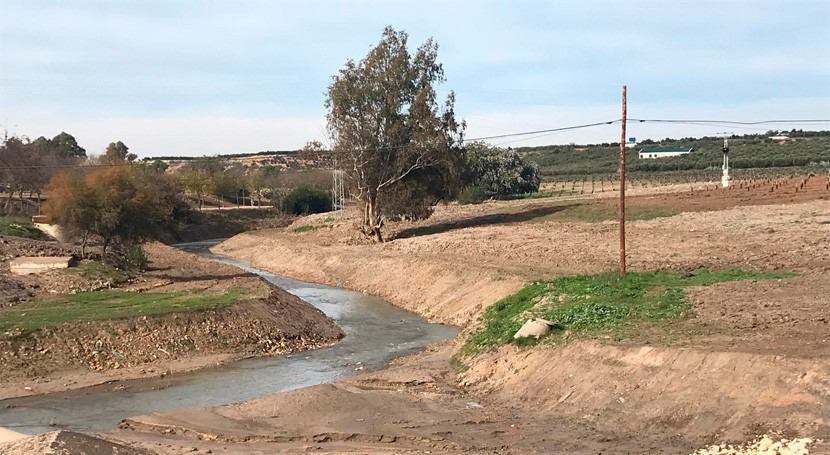 CHG finaliza restauración cauce río Corbones paso Puebla Cazalla