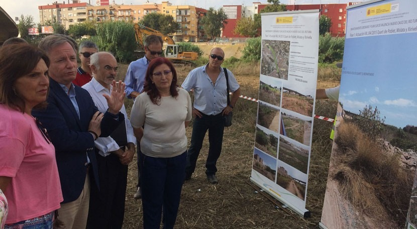 Gobierno invierte 500.000 euros mantenimiento 6,5 km nuevo cauce Turia