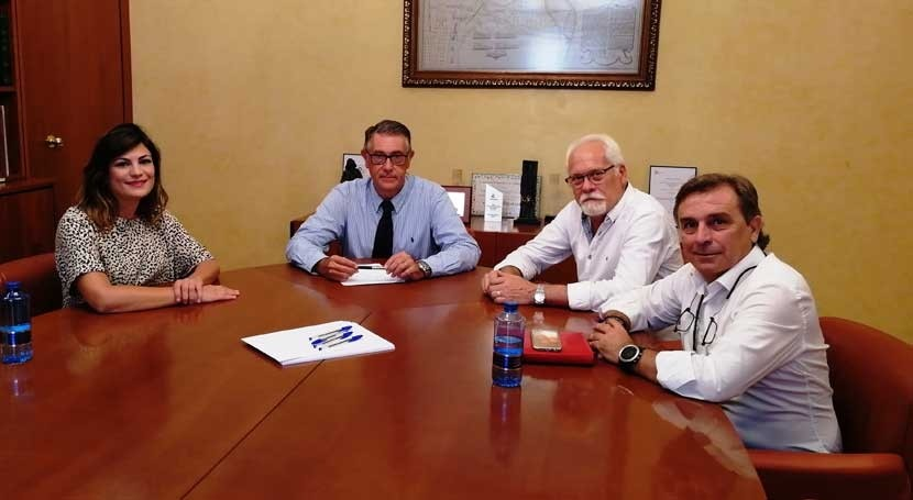 presidente CHS se reúne alcaldes Santomera, Fortuna y Abanilla