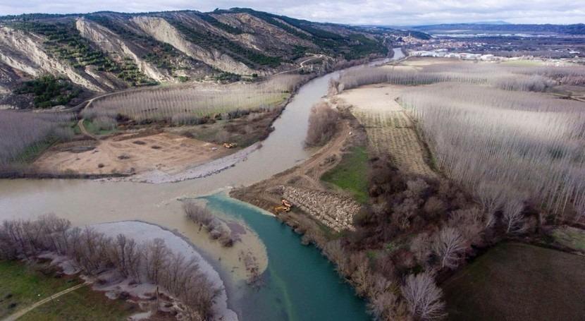 Iniciada restauración hábitats meandros tramo río Arga Navarra