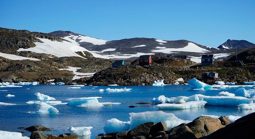 España Groenlandia estudiar ríos helados bordo trineo viento
