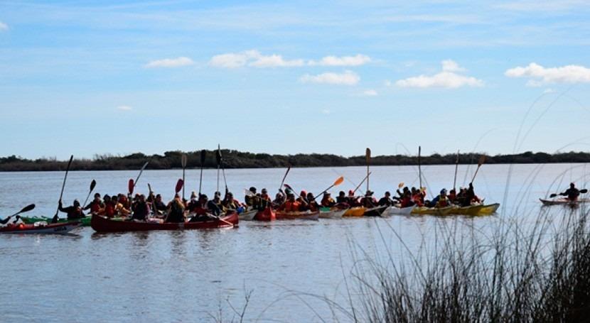 Primera Travesía Farrapos: Remando río Uruguay