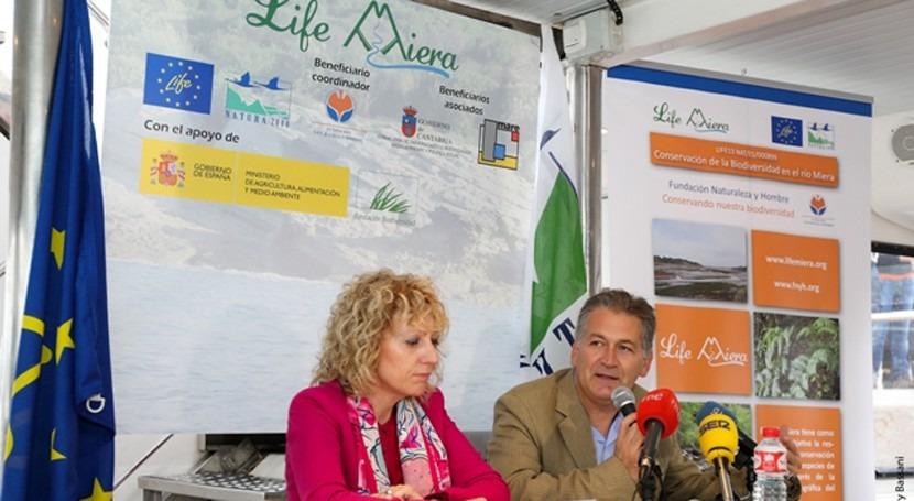 viaje conservación río Miera