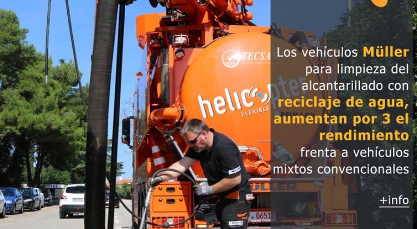 ¿Sabías que vehículos Müller limpieza alcantarillado reciclaje agua...?