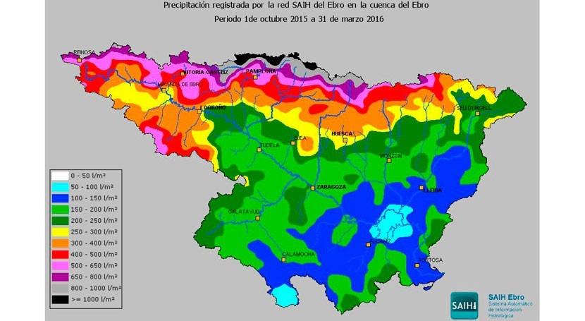 Elaborado informe resumen primera mitad año hidrológico Cuenca Ebro