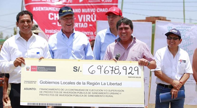 Perú ejecutará proyecto agua potable y alcantarillado 55.000 pobladores Libertad
