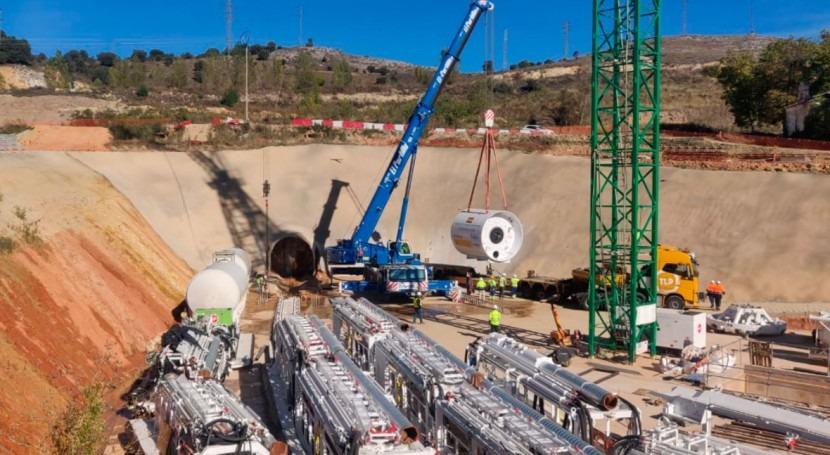 """Llega Soria tuneladora """"Saturia"""", que ejecutará túnel nueva depuradora"""
