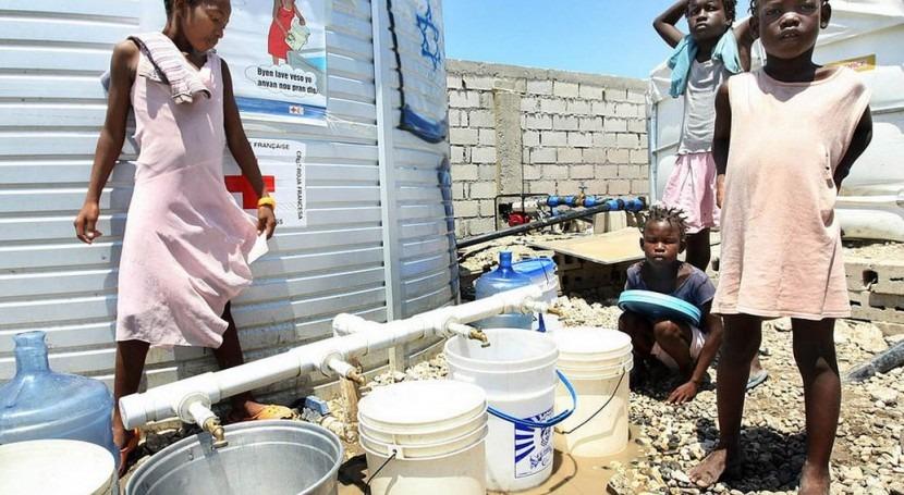 Desplazados en un campamento en Puerto Príncipe (ONU).