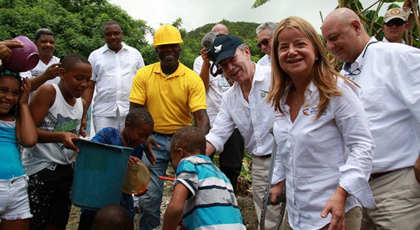 Isla Providencia cuenta cobertura total agua potable primera vez