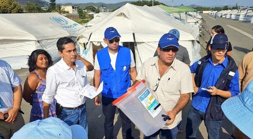 Secretario Agua recorre 5 cantones Manabí comprobar estado instalaciones