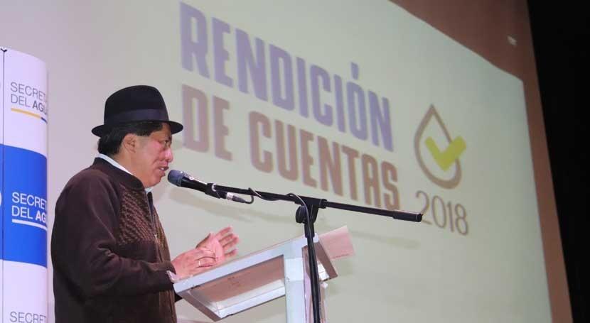 Ecuador hace balance gestión hídrica correspondiente al año 2018